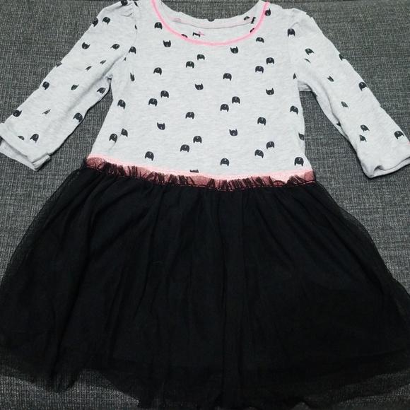 Circo Infant Toddler Girls Dress Yellow White Polka Dots Stripes Long Sleeve NEW